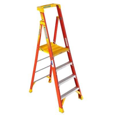 4 ft. Fiberglass Podium Step Ladder (10 ft. Reach), 300 lbs. Type IA Duty Rating