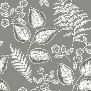Grey Foliage Vinyl Strippable Roll (Covers 30.75 sq. ft.)