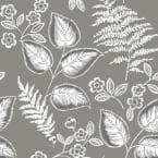 Grey Foliage Grey Wallpaper Sample