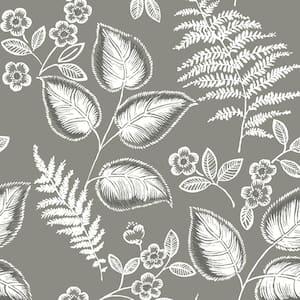Grey Foliage Grey Wallpaper Sample