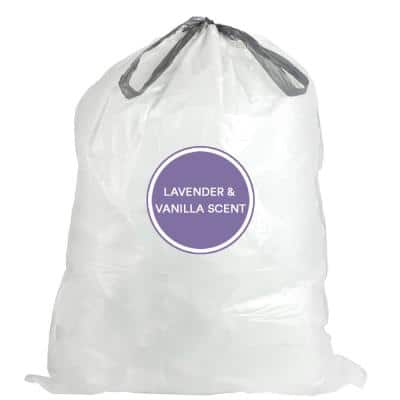 4 Gal. 17 in. x 16 in. 0.7 mil White Lavender and Soft Vanilla Scented Garbage Can Liners Trash Bags (200-Count)