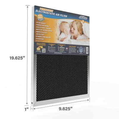 10 in. x 20 in. x 1 in. Permanent Electrostatic Air Filter FPR 9