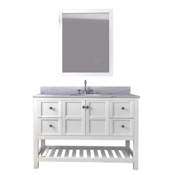 Chambery 48 In Single Bathroom Vanity, All Wood Bathroom Vanities