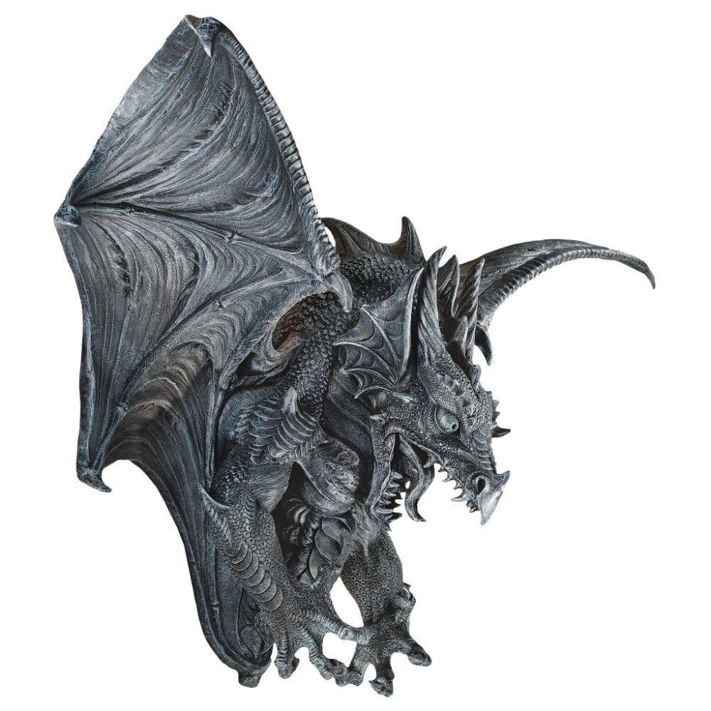 Design Toscano Dragon Assassin sur Cr/âne Statue de D/écor Gothique palette compl/ète de couleur 18 cm polyr/ésine