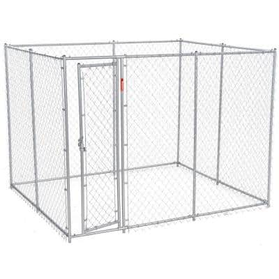 6 ft. H x 5 ft. W x 10 or 6 ft. H x 8 ft. W x 6.5 ft. L - 2-in-1 Galvanized Chain Link with PC Frame Box Kit