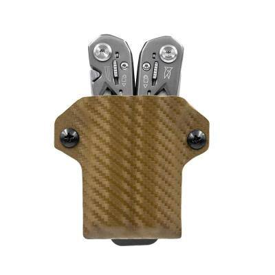 Kydex Multi-Tool Sheath for Gerber Suspension Multi-Tool Sheath Holder Holster Cover (Carbon Fiber Brown)