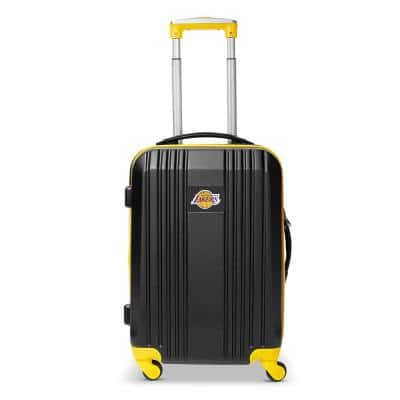 NBA Los Angeles Lakers 21 in. Hardcase 2-Tone Luggage Carry-On Spinner Suitcase