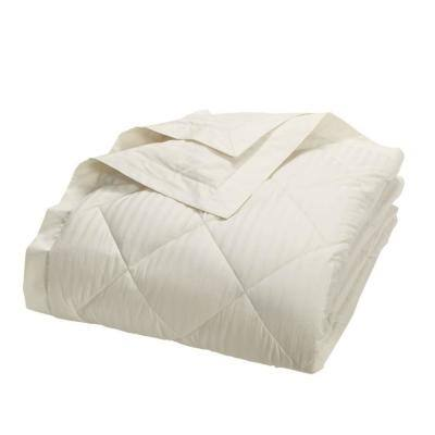 Legends Damask Stripe PrimaLoft Down Alternative Ivory Full Blanket