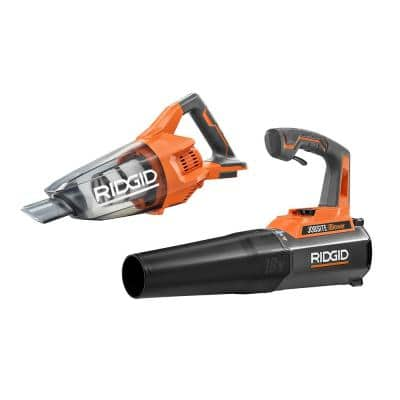 18V Cordless 2-Tool Combo Kit with Hand Vacuum and 18V Cordless 105 MPH Jobsite Handheld Blower (Tools Only)