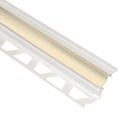 Dilex-PHK Sand Pebble 1/2 in. x 8 ft. 2-1/2 in. PVC Cove-Shaped Tile Edging Trim