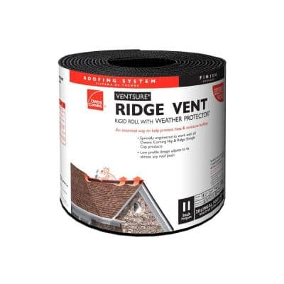 VentSure 11 in. x 20 ft. Ridge Vent Rigid Roll with Weather PROtector Moisture Barrier