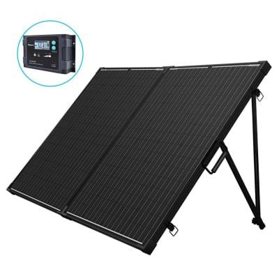 200-Watt 12-Volt Monocrystalline Foldable Suitcase Off-Grid Solar Power Kit with Voyager