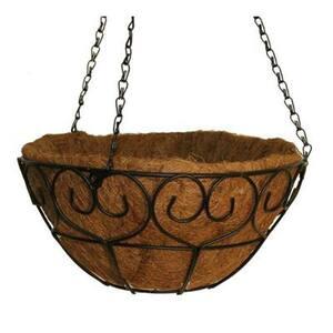 16 in. Metal Scroll-Heart Coco Basket