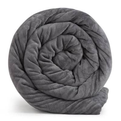 Classic Weighted Blanket 12 lb. Teen 48 in. x 78 in. with Duvet Cover, Gray