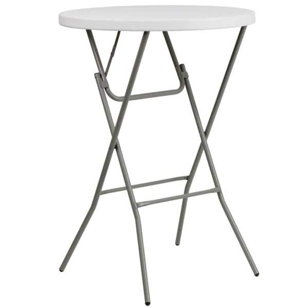 31 25 In Granite White Plastic Tabletop Metal Frame Folding Table Cga Flf 17482 Gr Hd The Home Depot