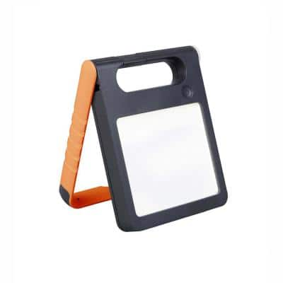 LED Orange Solar Pad Light with Rechargeable Battery