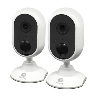 1080p Indoor Wi-Fi Surveillance Camera Connects to Your Wireless Network (2-Pack)