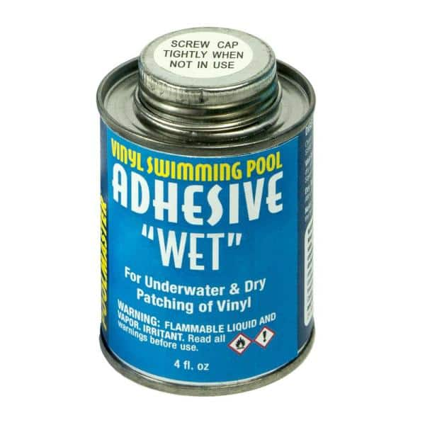 Poolmaster 4 Ounce Can Of Vinyl Swimming Pool Adhesive Wet 30277 The Home Depot