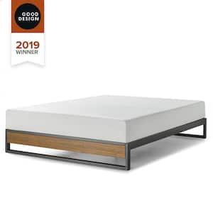 GOOD DESIGN Winner Suzanne Brown Queen 10 in. Metal and Wood Platforma Bed Frame