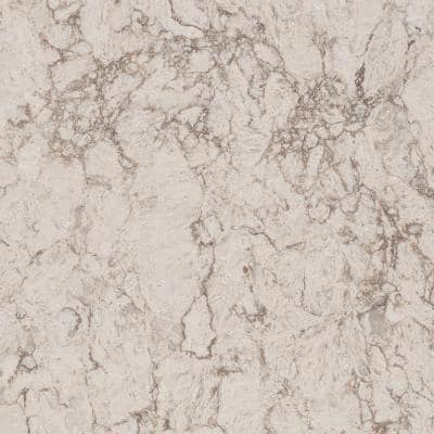 10 in. x 5 in. Quartz Countertop Sample in Moorland Fog