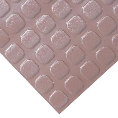 """Block-Grip"" 4 ft. x 4 ft. Brown Commercial PVC Flooring"