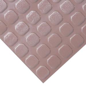 ''Block-Grip'' 4 ft. x 8 ft. Brown Commercial PVC Flooring