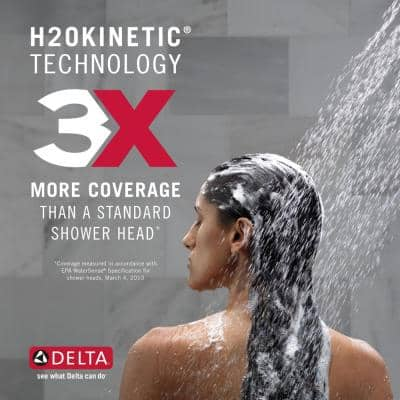 HydroRain Two-in-One 5-Spray 6 in. Dual Wall Mount Fixed and Handheld H2Okinetic Shower Head in Venetian Bronze
