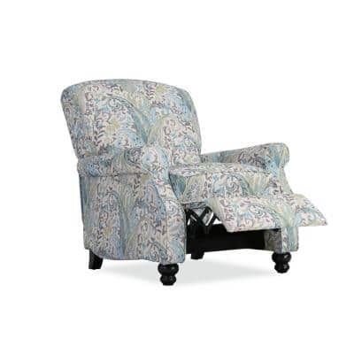 33 in. Width Big and Tall Multi Sky Blue Polyester 3 Position Manual Recliner