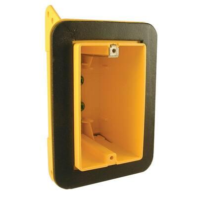 1 Gang Rectangular Non-Metallic Vapor Barrier Box with Mounting Bracket (50-Pack)