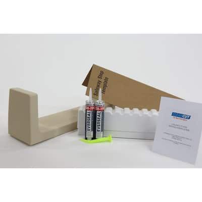 Wide Beige Step Bathtub Conversion Kit
