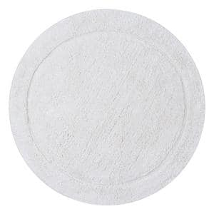 Waterford Collection Ivory 30 in. Round Cotton Bath Rug
