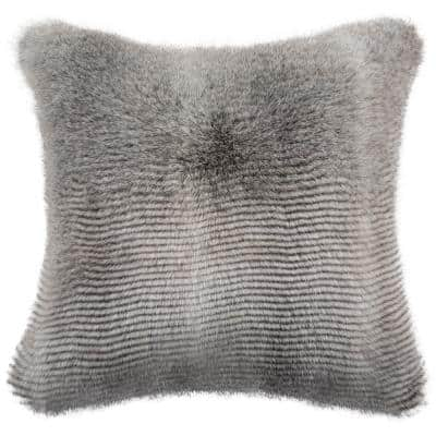 Faux Fur Down Alternative Throw Pillow