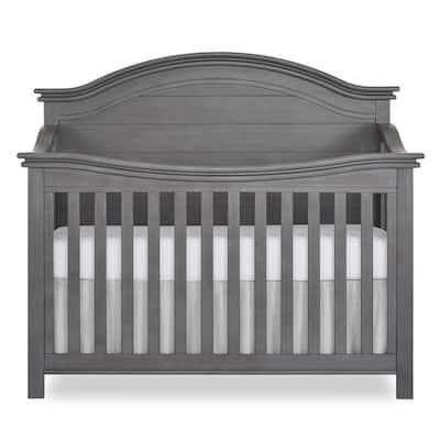 Belmar Rustic Grey Curve 5-in-1 Convertible Crib