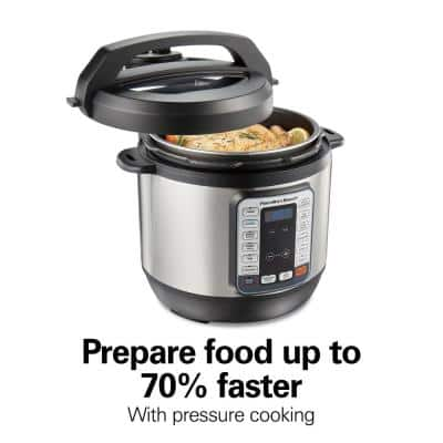 8 Qt. Stainless Steel Electric QuikCook Pressure Cooker with 12-Preset Functions