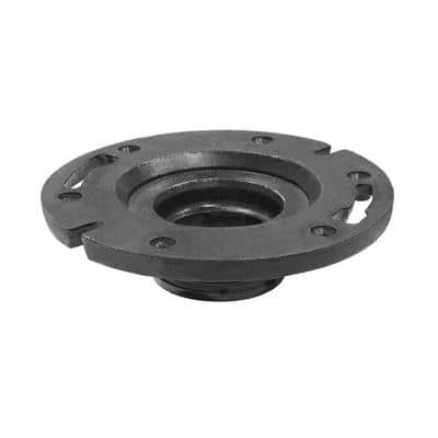4 in. x 4 in. Cast Iron Push-In Water Closet (Toilet) Flange for 4 in. Cast Iron or Sch. 40 DWV Pipe
