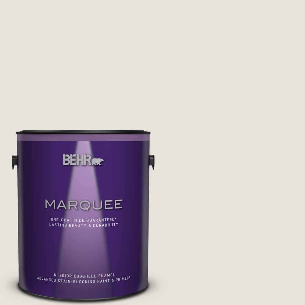 Behr Marquee 1 Gal Ultra Pure White Eggshell Enamel Interior Paint Primer 245001 The Home Depot