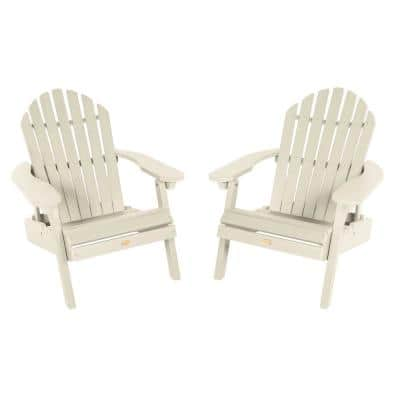 Hamilton Whitewash Folding and Reclining Plastic Adirondack Chair (2-Pack)