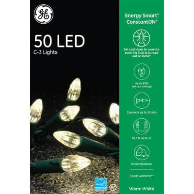 EnergySmart Colorite 50-Light LED Warm White C3