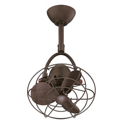 Diane 13 in. Indoor/Outdoor Textured Bronze Ceiling Fan with Remote Control