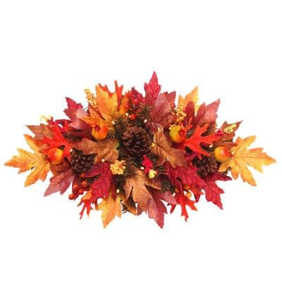 24 in. Maple Centerpiece with Battery Operated LED Lights