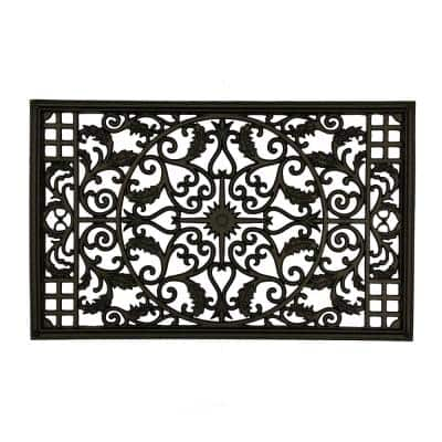 15 in. x 24 in. Wrought Iron Insert for Rectangle Wooden Gate