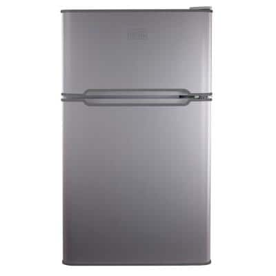3.1 cu. ft. Mini Fridge in Stainless Steel with Freezer