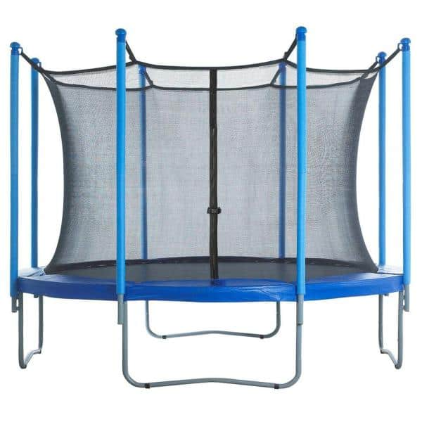 Upper Bounce Trampoline Enclosure Net Fits For 13 Ft Round Frames With Adjustable Straps Using 8 Poles Or 4 Arches Net Only Ubnet 13 8 Is The Home Depot