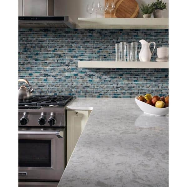 Msi Night Sky Interlocking 11 81 In X 11 81 In X 8mm Glass Mesh Mounted Mosaic Tile 0 97 Sq Ft Glsil Nigsky8mm The Home Depot