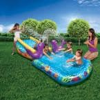 Toddler Outdoor Blue Inflatable My First Water Slide and Splash Pool