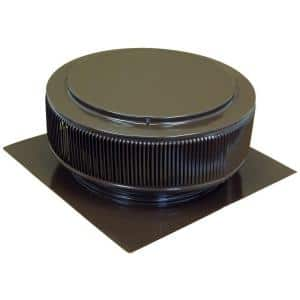 14 in. Brown Powder Coated Aluminum Roof Vent No Moving Parts Wind Turbine