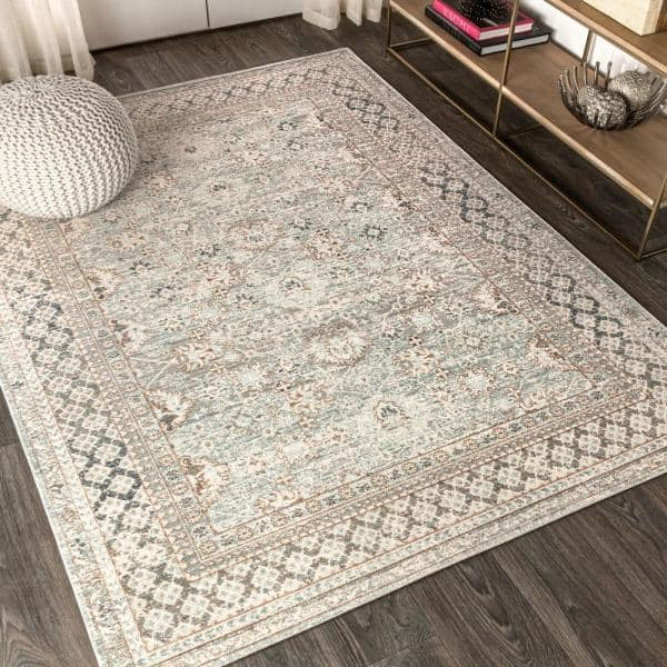Jonathan Y Stirling English Country Argyle Light Blue Ivory 7 Ft 9 In X 10 Ft Area Rug Sbc301c 8 The Home Depot