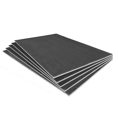2.67 ft. x 4 ft. x 1/4 in. XPS Foam Waterproof Backer Board Underlayment for Floor Tile and Stone (5-Pack)