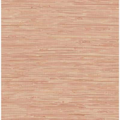 Tibetan Grasscloth Spice Pink Wallpaper Sample
