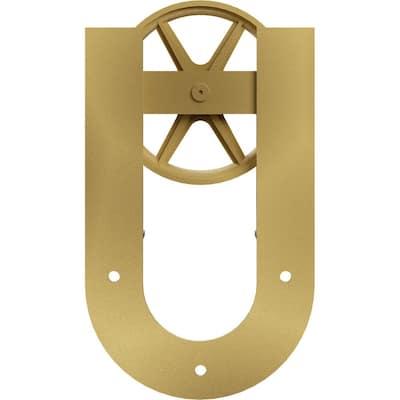 1-5/8 in. x 8 in. x 13-5/8 in. Steel Premium Wagon Wheel Horseshoe Roller Hanger Moulding Jacob's Gold
